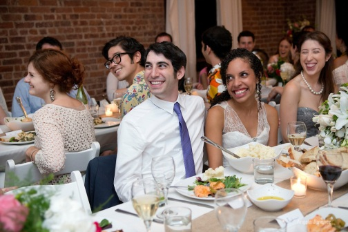 Simon & Laura are married in a wedding at Deity Lounge in Brooklyn, New York on August 4, 2012.