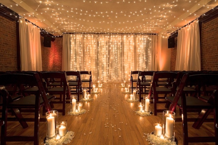 Brooklyn Wedding Venue-Candle Aisle
