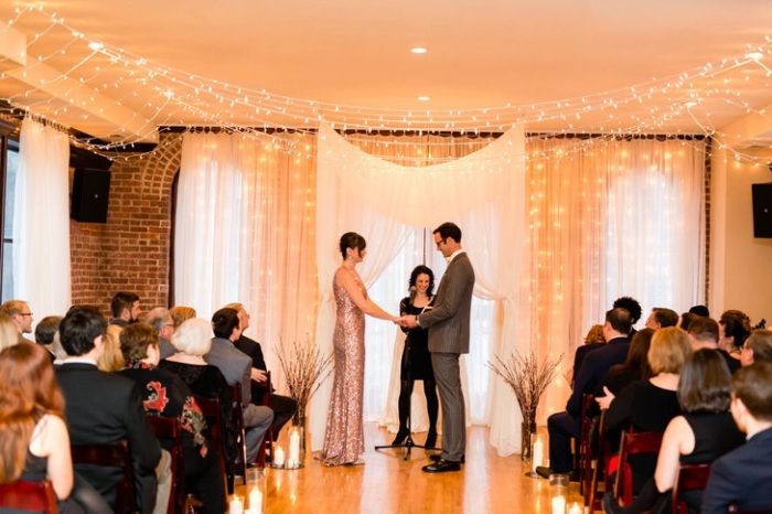 Deity Brooklyn Wedding Venue- The Knot -Casey Fatchett Photo