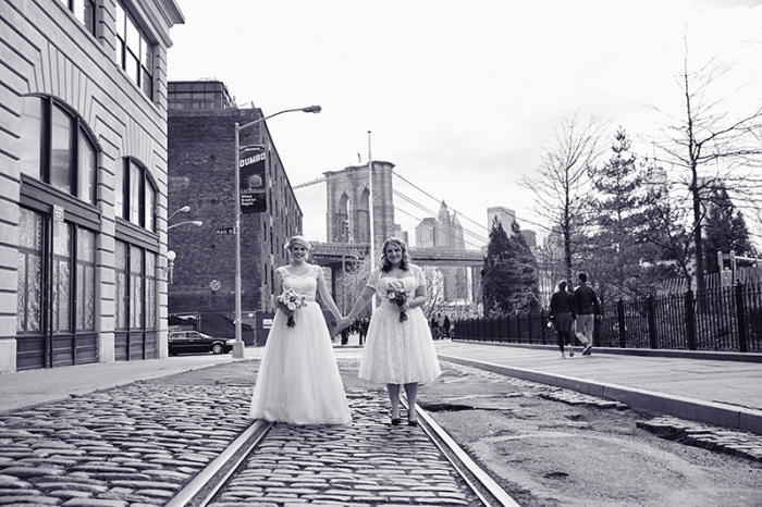 Same sex Brooklyn wedding at Deity wedding venue by Le Image - New York photography studio.
