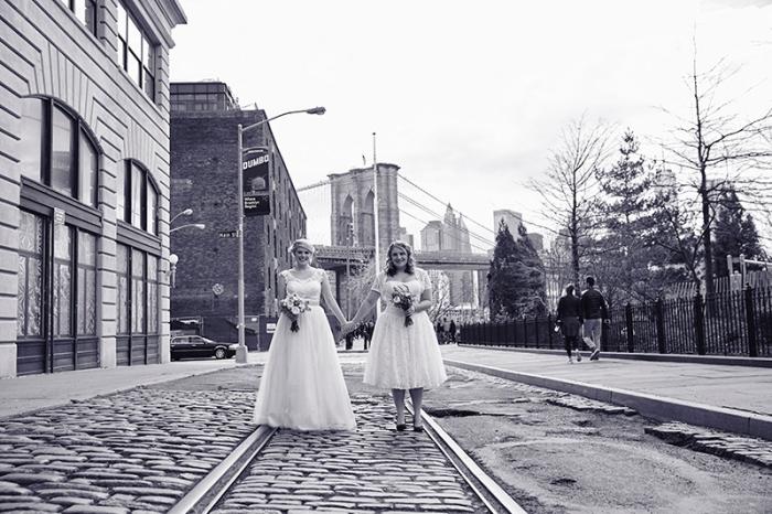 Same sex Brooklyn wedding at Deity wedding venue by Le Image - New York photography studio.